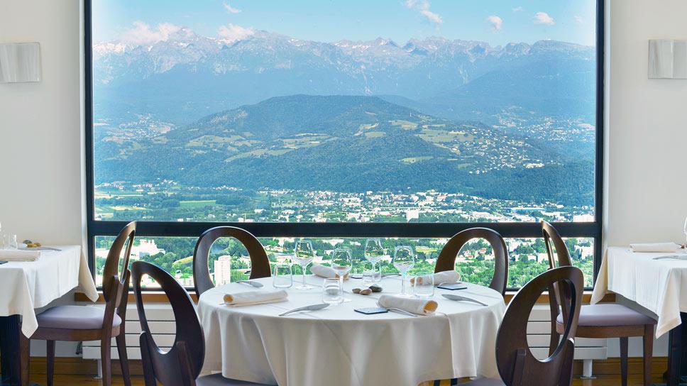 Restaurant Pèr gras téléphérique Grenoble Bastille