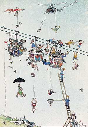 Dessin Briand - L'inauguration du 18 septembre 1976 !