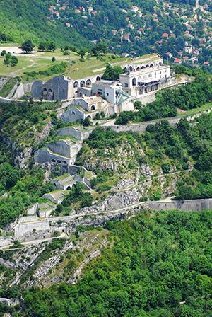 Le fort de la Bastille vue du ciel
