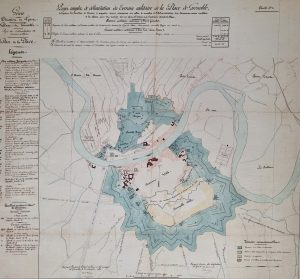 plan fortifications grenoble 1851