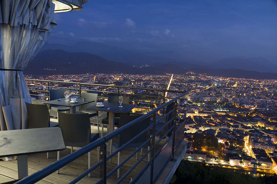 Grenoble Bastille cable car restaurant